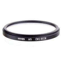 الجملة 10 قطعة RISE (المملكة المتحدة) 58 مللي متر UV فوق البنفسجية مرشح حامي عدسة ل DLSR كاميرا 58 مللي متر عدسة