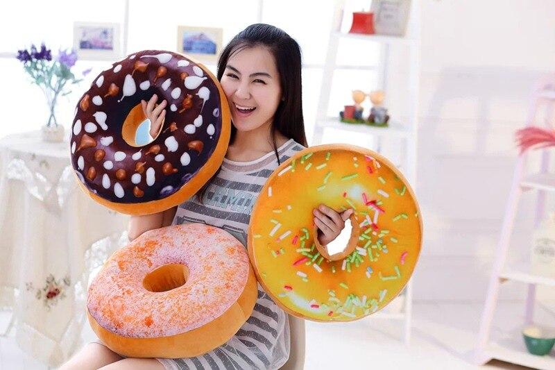 Donuts kussen ademend bank traagschuim kussen grappige speelgoed pop