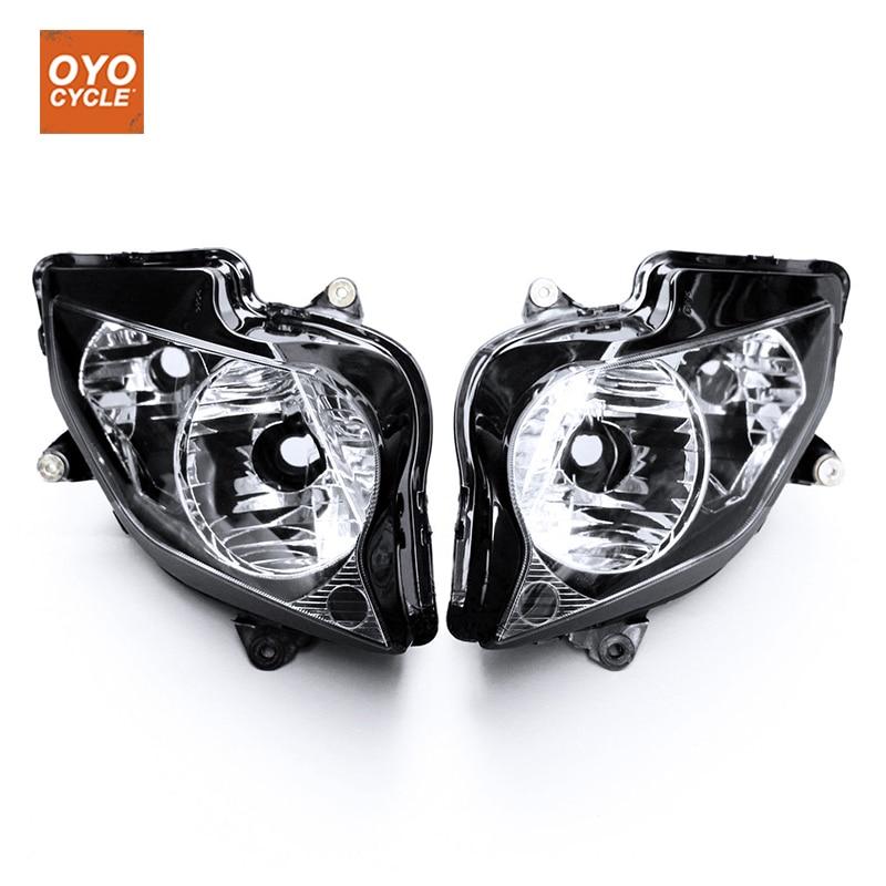 For 02-12 Honda VFR800 VFR 800 Motorcycle Front Headlight Head Light Lamp Headlamp 2002 2003 2004-2012 unpainted white injection molding bodywork fairing for honda vfr 1200 2012 [ck1051]