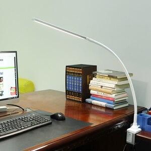 Image 2 - リモコンビジネス Led 会社のデスクランプクランプ 5 色温度 5 Brightenss 目のケアロングアームスタディテーブルランプとプラグ