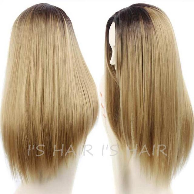 Grey Synthetic Female Wigs for Black Women Long Straight Hair Heat Resistant Cheap Synthetic Wigs