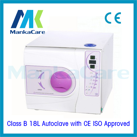18 L disinfection cabinet Dental Medical Sterilizer in Purple color Vacuum Steam Dental Autoclave WITHOUT  PRINTER Of Class B portable dental autoclave sterilizer with replaceable tray high temperature sterilizer hot air disinfection with wooden holder