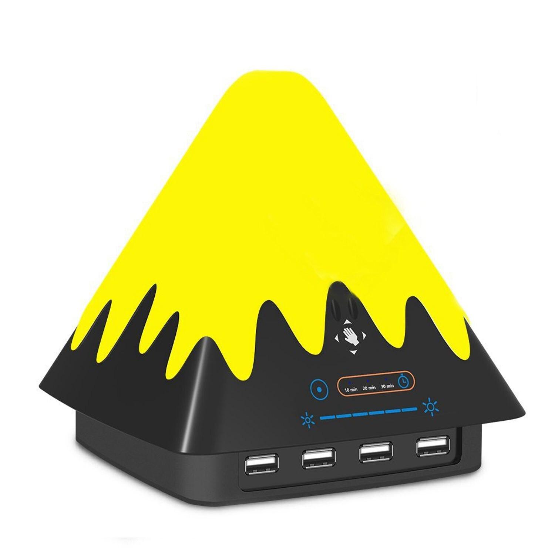 Ночники светодиодный Touchless Сенсор Управление Цвет изменение затемнения атмосферу настольные лампы с 30 Вт Американский Quick Charge для кровати