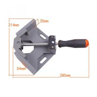 65mm 90 Degree Mitre Corner Clamps Picture Frame Holder Woodwork Right Angle Aluminum Single Handle Folder Tool Adjustable