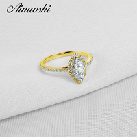 Hot Sell Lady Ring Real 10K Gold Yellow TC Collection Rings Jewelry Ring New Wedding Engagement