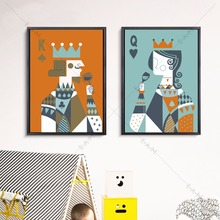 Poker King And Queen Canvas Art Print Painting Poster Wall Pictures For Children Room Home Decorative Bedroom Decor No Frame