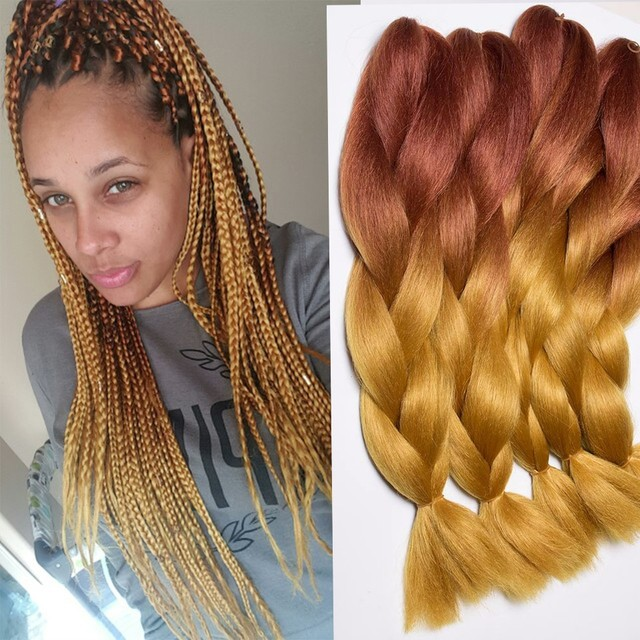 2460cm 100g Braids Hair Extension African Braided Hair Ombre
