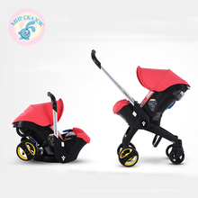 foofoo baby stroller 3 in 1 Sit lie folded stroller basket cradle baby safety seat Russia Free Shipping