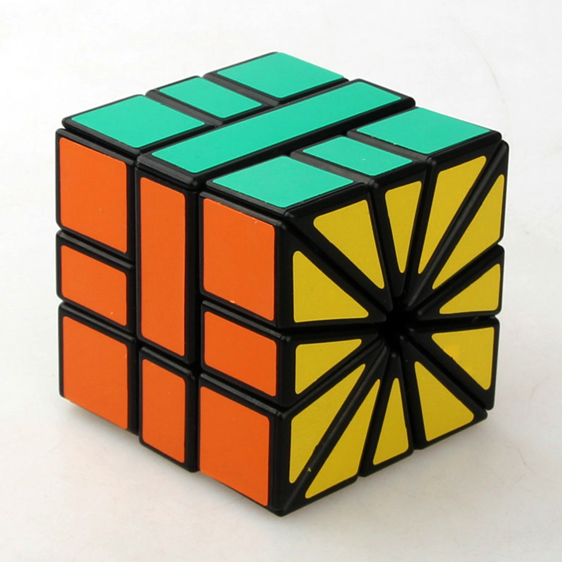Square Ii Sq2 3x3x3 Speed Cube Sector Magic Cube Puzzle Toy - Black