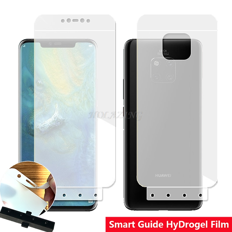 Smart Guide Tool Soft AUTO Fixed Hydrogel Film Full Cover Screen Protec