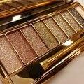 9 colores diamante brillante sombra de ojos del maquillaje naked palette set de maquillaje de sombra de ojos cosméticos maquillage profesional con el cepillo