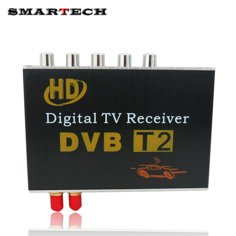 SMARTECH DVB T2 Digital TV Receiver external box Mobile DVB T2 TV Receiver for Car DVD digital TV tuner Mpeg4 For Russia Europe idoing high speed hd car tv tuner mobile dvb t t2 mpeg 4 digital tv receiver box dual antennas for russia european