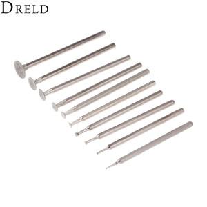 Image 4 - DRELD 10Pcs Dremel Accesories 2.35mm Shank Diamond Mounted Point Grinding Head Stone Jade Carving Polishing Engraving Tools
