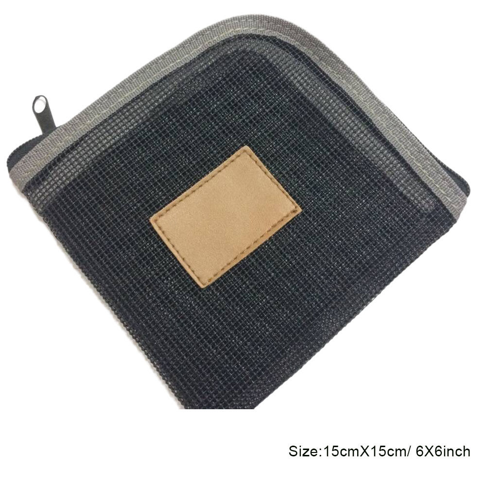 Aventik кошелек для хранения рыболовной лески 5 карманов Вес вперед Fly Line кошелек сумка основная леска Сумка рыболовная леска пакет - Цвет: FLP01 grey
