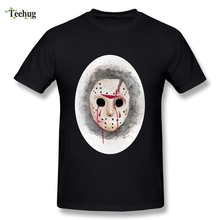 100% Cotton Men Jason T Shirts Nice Shirt Friday the 13th Hot sale Tee Short-sleeved