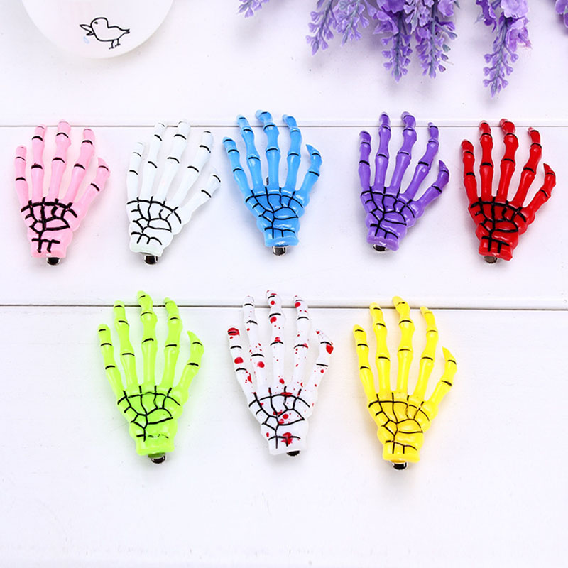 1 Pc Fashion Women Men The Bones of Hand Hairpin Novelty Human Skeleton Fluorescence Harajuku Hair Accessories Halloween Gift plastic standing human skeleton life size for horror hunted house halloween decoration