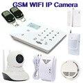 2016 Горячая 720P HD GSM/3G камера WiFi камера IP Беспроводная охранная камера система с GSM сигнализацией K9 детектор утечки газа W12C