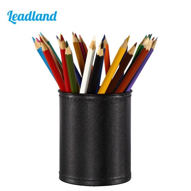 round pu leather pen pencil holder desk organizer office desk rh aliexpress com pen holder for desk walmart pen holder for desk south africa