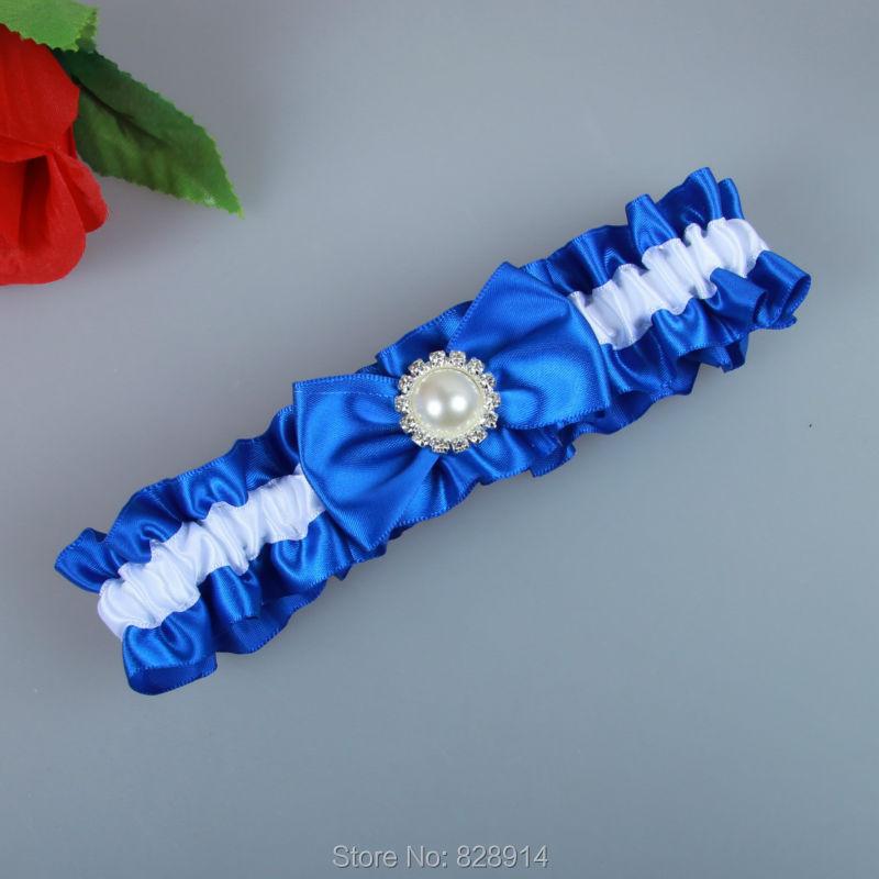 cb206ff6914 Original Design Blue Ribbon Wedding Garter Belt With Imitation Pearl Bead  Bridal Leg Garter Belt Handmade HY048-in Garters from Underwear    Sleepwears on ...