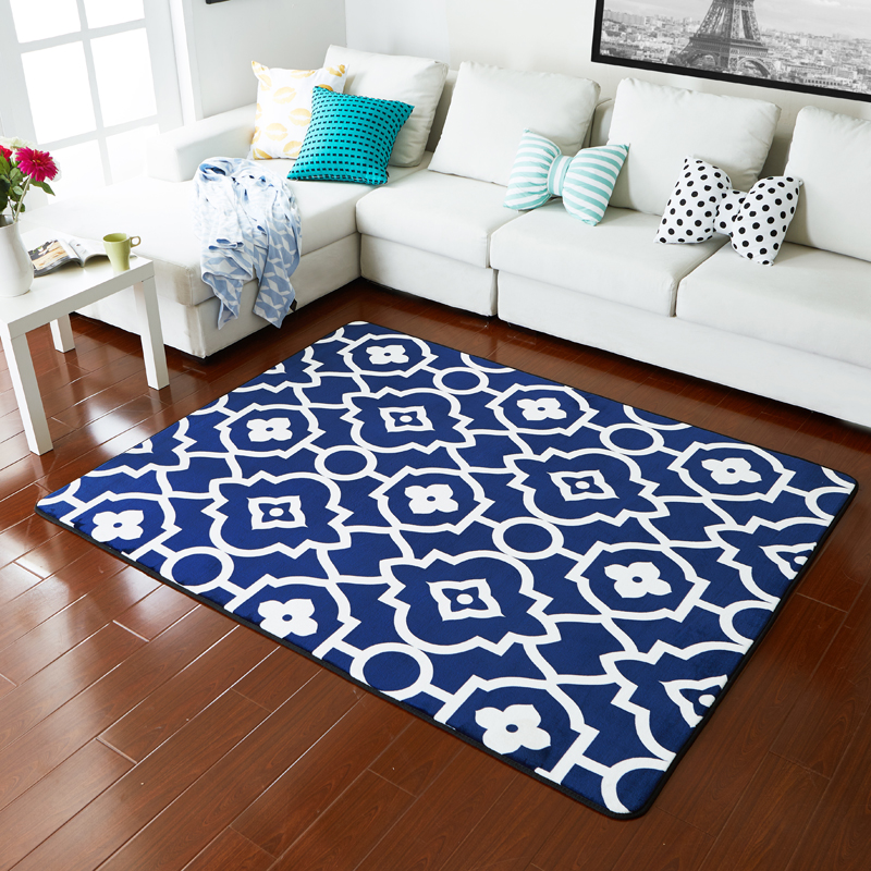 Online kopen Wholesale blue and white rug uit China blue and white ...