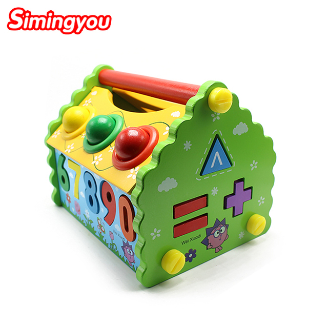 Simingyou Learning Toys Children  Disassembly  Wisdom House Montessori  Wooden Puzzle Toys Educational SY03