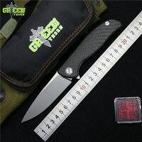Green Thorn 95 HATI Flipper Folding Knife M390 Steel Bearing Titanium CF 3D Handle Camping Hunting