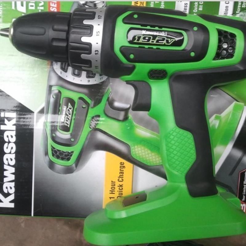 220V 10MM Universal Chuck Kawasaki 19.2V Rechargeable Drill with Battery and Charger|rechargeable drill|drill with battery|drill 220v - title=