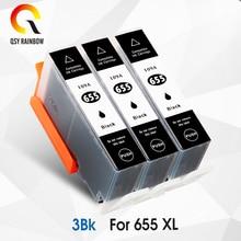 CMYK SUPPLIES 3BK Compatible HP 655 XL Ink Cartridge for HP655 Deskjet 5525 6520 6525 6625 3525 4615 4625 Printer with chip vilaxh ink cartridge with chip for hp 655 for hp655 c m y bk for hp deskjet 3525 4615 4625 5525 6520 6525 6625