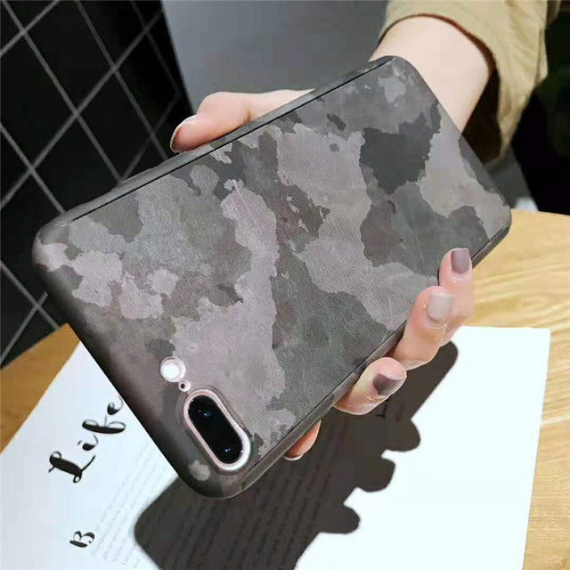 360 Full Protective Phone Case for iPhone 7 8 plus 6 6s 5 5S SE Army Camouflage Cover for iPhone X XR XS MAX Case with Glass