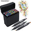 TouchFIVE 168 Colors Watercolor Oily Alcoholic Dual Headed Manga Painting Markers Sketch Set Liners For Drawing