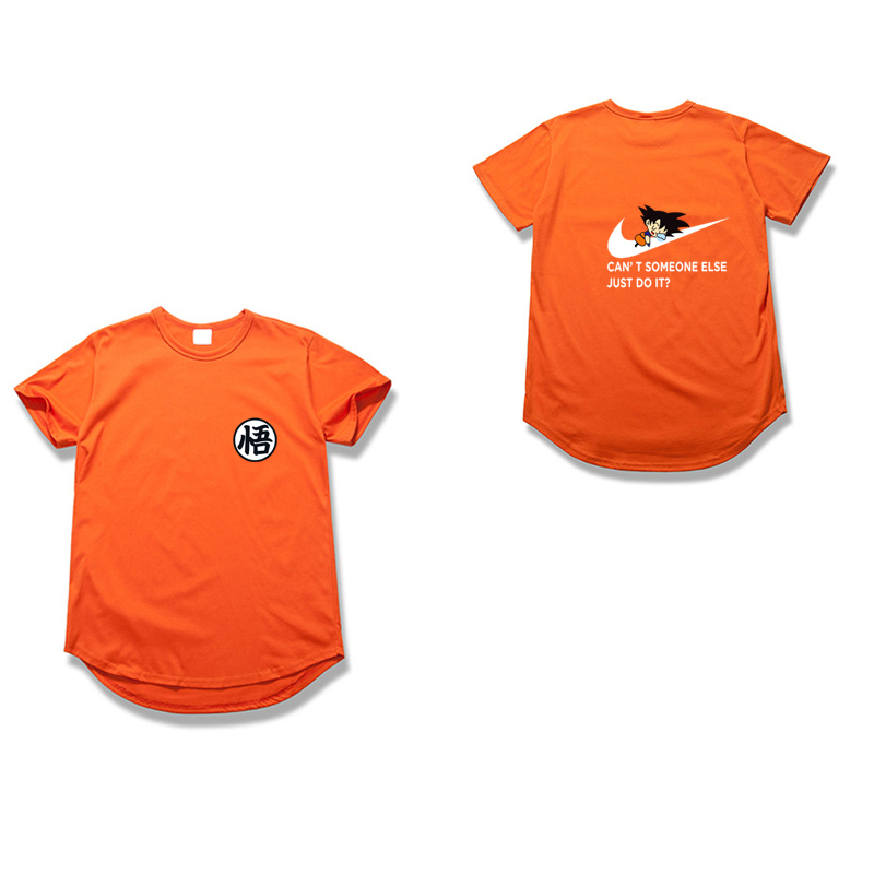 Hotmall Store New Arrivals Goku T-Shirt Men Dragon Balls Custom Printed Can'T Someone Else Just Do It Letter Printing Anime Short Sleeve Tops