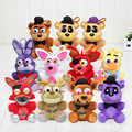 14cm Five Nights At Freddy's 4 FNAF Chica Bonnie Nightmare Freddy Mangle Foxy pendant keychain Kids Dolls Gift Christmas Gift