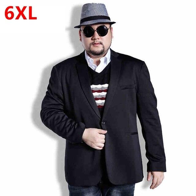 14c22edf1d9 Business casual plus size male one button suit fashion suit jacket Large  male easy care Men s