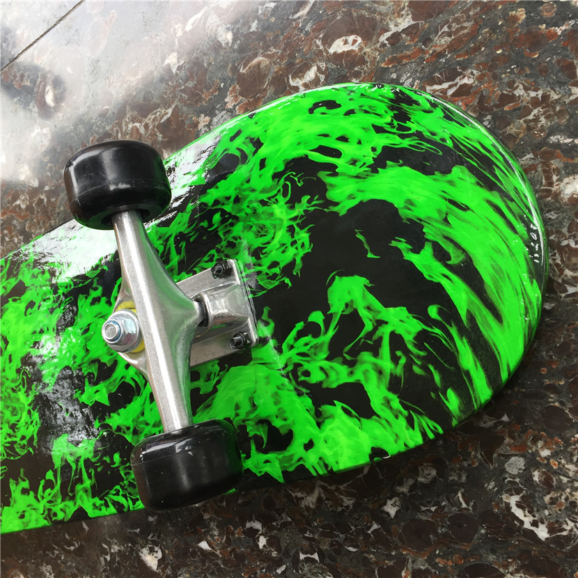 Green Forest Pattern Skateboard Complete Set With Trucks, Wheels&Bearings for Kids and New Skaters Free Shipping - 6