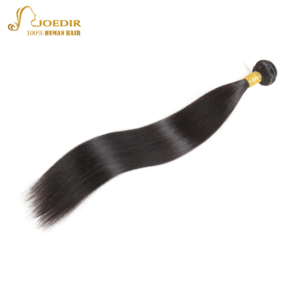 Joedir Peruvian Hair Weave Bundles Straight Human Hair Extensions Natural Black Non Remy Can Buy 3/4 Bundles Deals Free Shipping