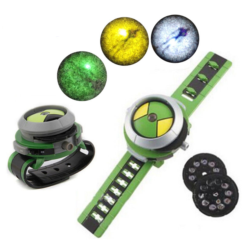 NEW Ben 10 Omnitrix Watch Style Kids Projector Watch Japan Genuine Ben 10 Watch Toy Ben10 Projector Medium Chlidren Toys lis hot selling ben 10 style japan projector watch ban dai genuine toys for kids children slide show watchband