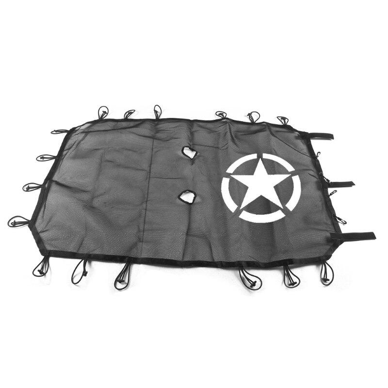 Fit Jeep Wrangler JK 4 Porte Cinq Étoiles Toit Maille Parasol Capot Supérieur UV Protection