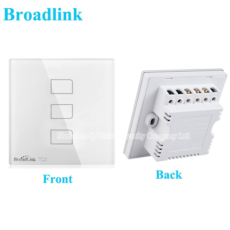 1--Broadlink UK Standard TC2 3 Gang Wireless Remote Control Wifi Wall Light Touch Switch RF433MHZ AC110V-240V Smart Home Automation