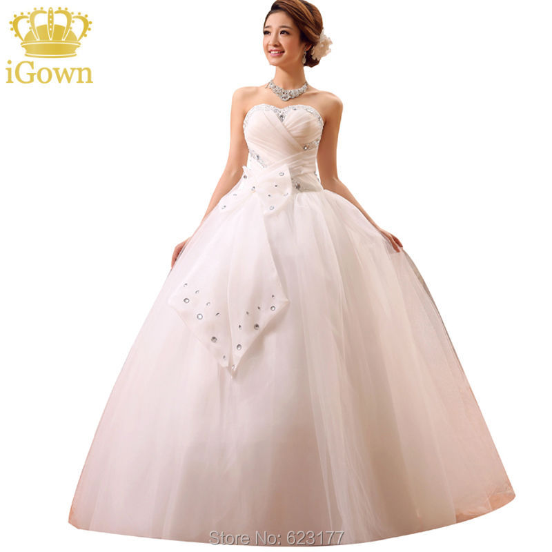 IGown Wholesale Flowers Wedding Dresses Sweetheart