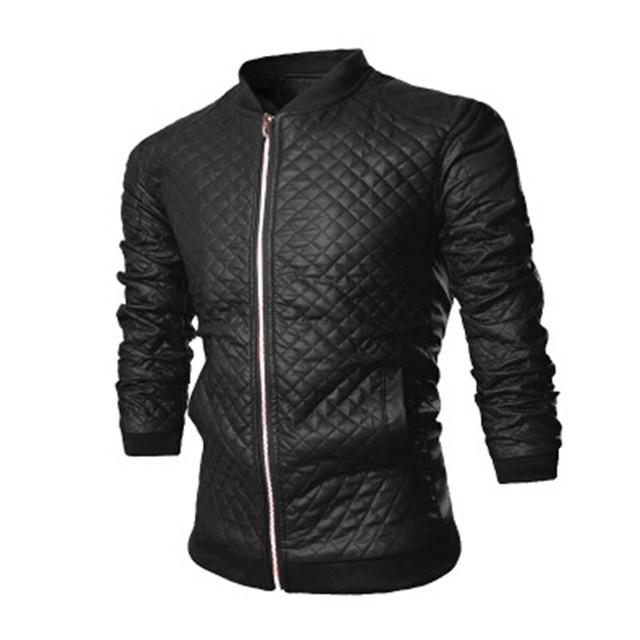 2016 простой тонкий jaqueta де couro мужчины локомотив воротник пальто мужчины твердое качество кожаной куртке скрывается