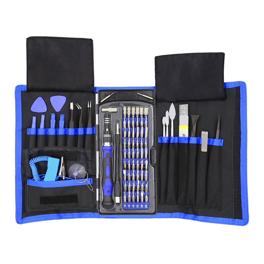 80 in 1 Precision Screwdriver Set with Magnetic Screwdriver Kit 56 Bits Repair Tools Kit For iPhone 7 Laptop PC Phone Hand Tools magnetic screwdriver bits set opening tools flat phillips trox hexagonal pentalobe for appliance mobile phone bike pc repair
