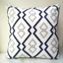 Серый и синий чехол на подушку милый с алмазной геометрической