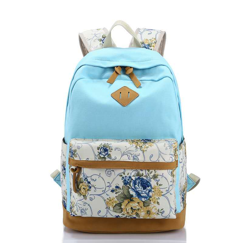 Canvas Printing Backpack Fashion Backpacks Bag for Teenage Girls Vintage Laptop Rucksack Bagpack Female Schoolbag Mochila