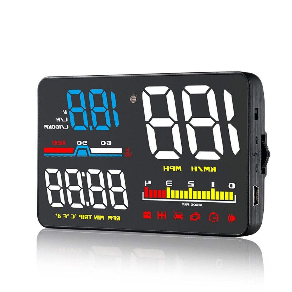 Affichage tête haute de voiture OBD2 D5000 Hud affichage tête haute 1.5 pouces couleur écran vitesse pare-brise projecteur tension alarme