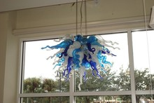 Free Shipping Mouth Blown Glass Home Lamp Colorful Chihuly Style Chandelier