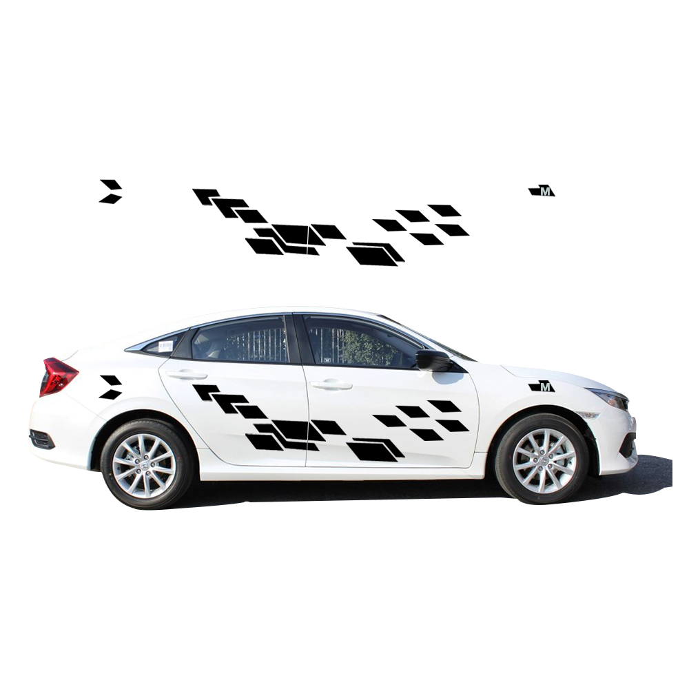 2018 New Personality Car Sticker For Honda Civic Funny DIY Decal Sticker Car Styling 2 Color 2 PC new personality car sticker for vw amarok funny diy car decals sticker car styling 2 pcs concise grid pattern car accessories