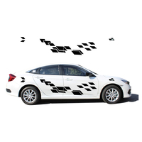 2018 New Personality Car Sticker For Honda Civic Funny DIY Decal Sticker Car Styling 2 Color 2 PC