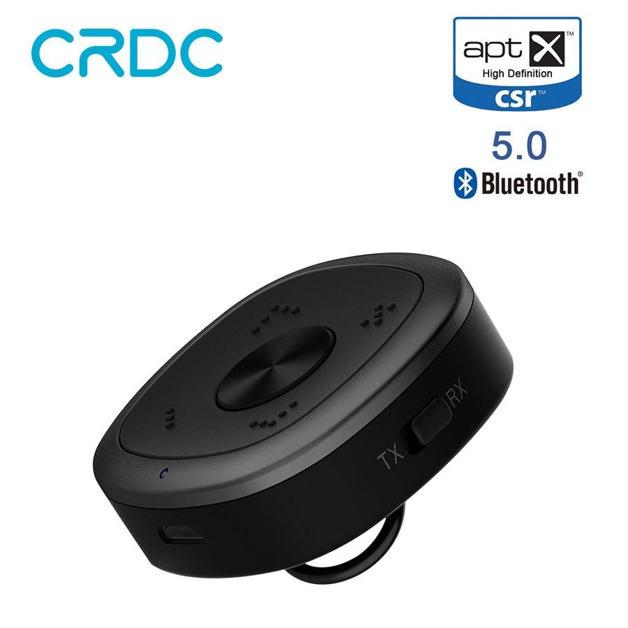 CRDC APTX HD Bluetooth 5.0 Receiver Transmitter CSR BC8675 Wireless Audio 3.5mm Aux APT-X Music Transmitter For PC TV Speaker cw 03 micro wireless audio receive transmitter hd voice audio transmitter receiver black