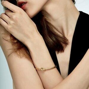 Image 3 - ENFASHION Wholesale Knot Cuff Bracelets Gold Color Manchette Bangle Bracelet For Women Armband Fashion Jewelry Pulseiras B4286