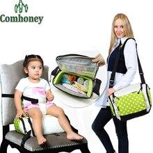 Bébé Chaise D'alimentation Booster Siège Enfant Portable Chaise Bébé Multifonctionnel Sac de Maman Nappy Couches Sac Enfant en Toute Sécurité Pliant Siège